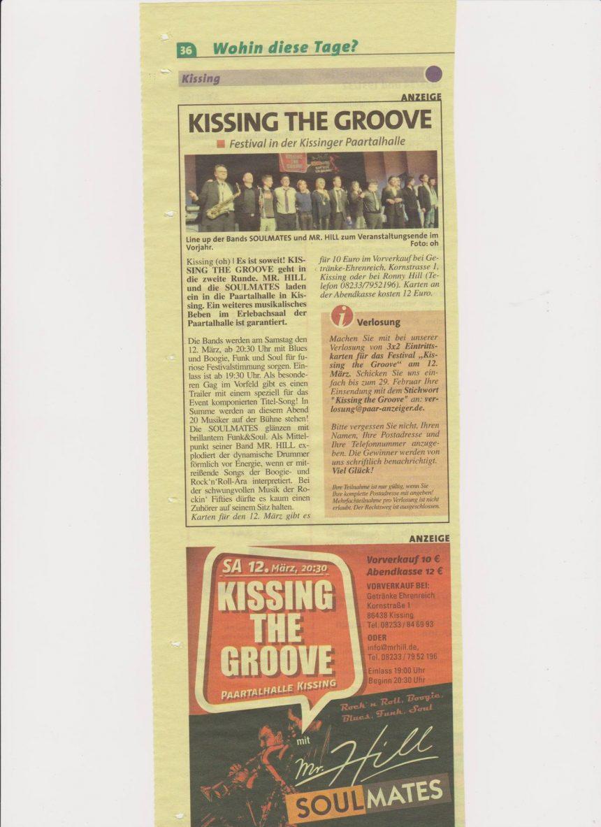 bitte den 12.3. Kissing The Groove vormerken. CU :-)