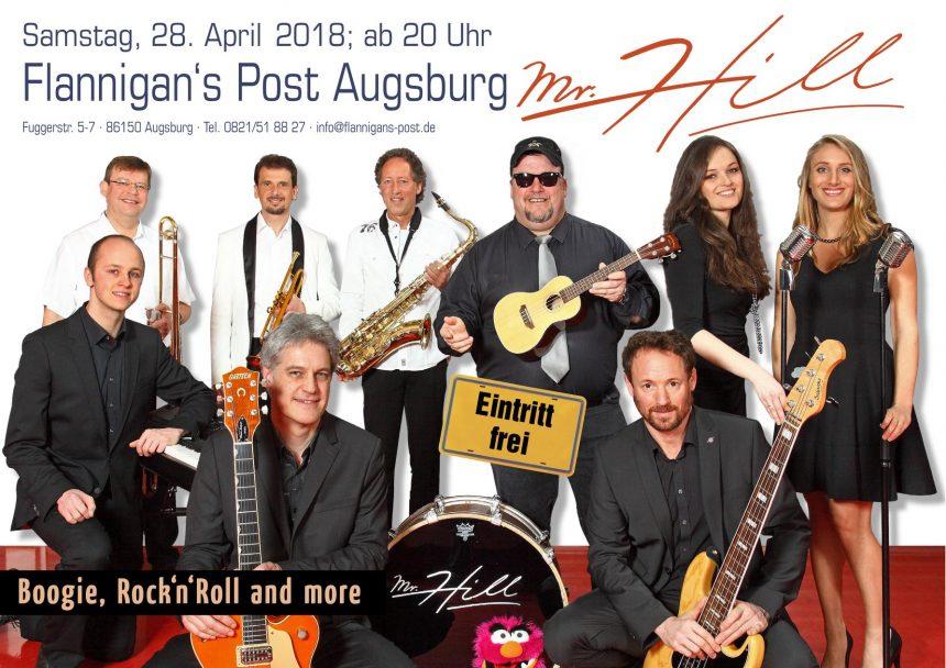 """Hey Folks, am kommenden Samstag spielen wir im """"Flannigans Post"""" in Augsburg. Gr…"""